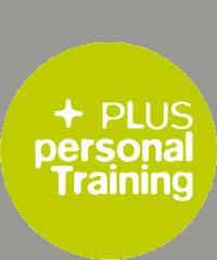 Logo von PLUS Personal Training in einem grünen Kreis