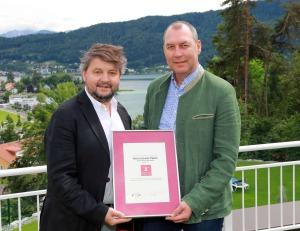 Obmann Erwin Schwarz mit Inhaber Thermenhotel Paierl Erwin Paierl