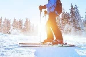 Wintersport in der Natur