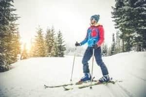 Skigenuss in der Natur im Winter